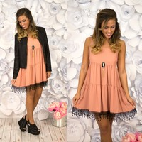 A Little Edgy Dress in Rose