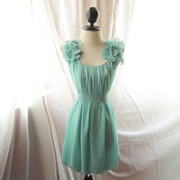 Minty Green River of Romansk Dress Romantic by RiverOfRomansk