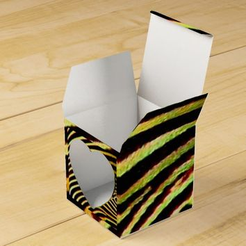 Yellow and Black Zebra Pattern Party Favor Box