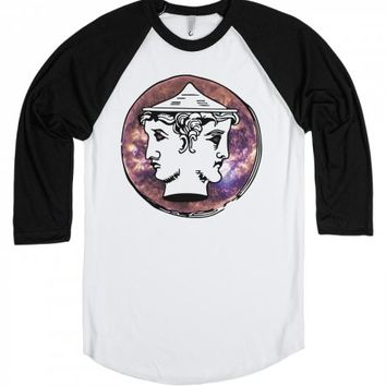 Etruscan Coin-Unisex White/Black T-Shirt