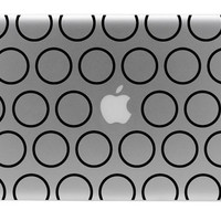 Polka Dot Outline Macbook Vinyl Decal by BengalWorks on Etsy