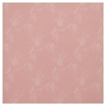 Vintage White Grapevine Coral Fabric