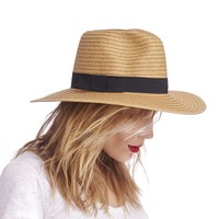 Sole Society Wide Brim Fedora W/ Band