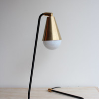 Signature Steel and Brass Desk/Table Lamp