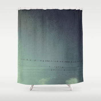 settle your wings Shower Curtain by RichCaspian