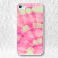 iPhone 4 Case, iPhone Case, iPhone 4S Case, iPhone Case 4/4S - Pink Tie Dye - 146