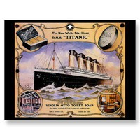 RMS Titanic Vintage Passenger Ship Postcard from Zazzle.com