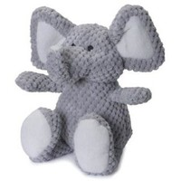 QPG Checkered Elephant for Dogs | Plush Fleece Dog Toys
