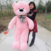 Hot!!!brand New Big Stuffed Plush Teddy Bear Soft Doll Toy S0401-pink-80cm 31inch