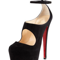 Maillot Cutout Platform Red Sole Red Sole Pump - Bergdorf Goodman