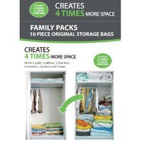 10 PACKS - AW Vacuum Storage Bags - Set of 10 (2 Jumbo - 3 Large - 5 medium) - 72 Hours Extreme...