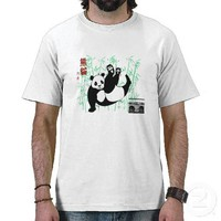 Hip Hop Panda Dance Tee Shirts from Zazzle.com