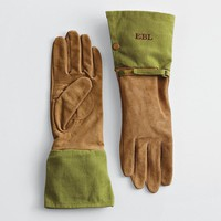 monogrammable gardening gloves from RedEnvelope