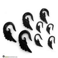 Black Angel Talons | Jewelry Plugs | 8 Gauges Up To 0G