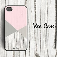 Wood Print Geometric Triangle Pastel Unique iPhone Case , iPhone 4 Case , Plastic iPhone 4s Cover by IdeaCase