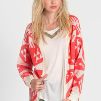 Neon Fire Aztec Cardi - $54.00: ThreadSence, Women&#x27;s Indie &amp; Bohemian Clothing, Dresses, &amp; Accessories