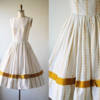 1950s // jiminy crickets dress by themagiccarousel on Etsy