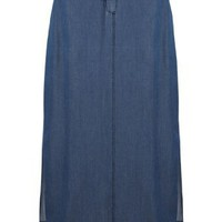 Avenue Plus Size Denim Maxi Skirt $44.99