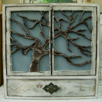 Handmade Large Wood Cabinet  Cabinet With by honeystreasures