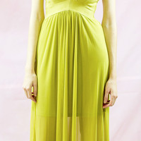 Reagan Bandage Top Chiffon Maxi by Wow Couture