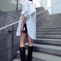 BATWING SHIRT-DRESS