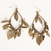 Don&#x27;t Fall Behind Leaf Earrings - &amp;#36;12.00 : ThreadSence.com, Your Spot For Indie Clothing &amp; Indie Urban Culture