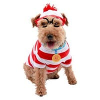 Where&#x27;s Waldo Pet Costume