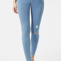 Women's Topshop Moto 'Leigh' Ripped Skinny Jeans ,