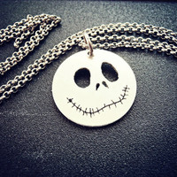 Pumpkin Jack O'Lantern Halloween silver jewelry - Jack The Pumpkin King - Nightmare before Christmas jewelry
