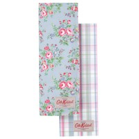 Cath Kidston Tea Towels, Chelsea Rose, Set of 2 online at JohnLewis.com - John Lewis