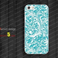 NEW iphone 5 case iphone 5 cover illustration blue flowers design iphone case atwoodting design
