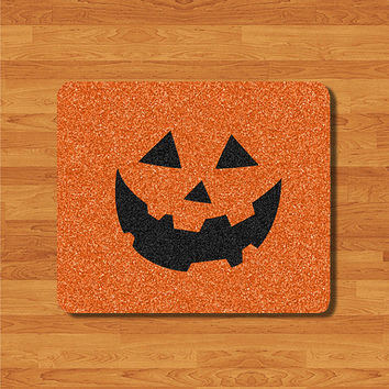 Dead Of Pumpkin Ghost Mouse Pad Black Orange Glitter MousePad Personalized Pad Desk Deco Computer Accessory Christmas Gift