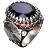 Spirallo Silver Ring - ME-107 from Dark Knight Armoury