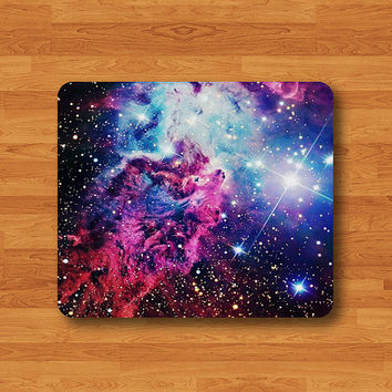 Nebula Galaxy Hipster Teen Dark Space Mouse Pad MousePad Desk Deco Work Pad Mat Rectangle Personal Gift Christmas