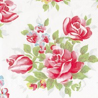 Cath Kidston English Rose Napkins, Pack of 20 online at JohnLewis.com - John Lewis
