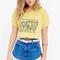 Blink Western Square Cropped Tee- Yellow