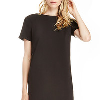 DailyLook: Ronson Zippered Shift Dress in Black M - L