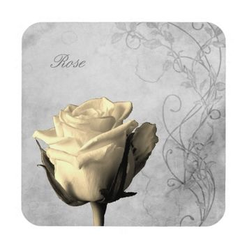 Vintage Style Single Rose Grungy Background