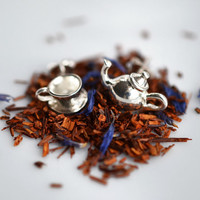 Tea Time Stud Earrings. Add a matching necklace and a personal message to the presentation message card.