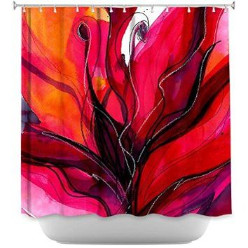Shower Curtain Artistic Designer from DiaNoche Designs by Arist Kathy Stanion Unique, Cool, Fun, Funky, Stylish, Decorative Home Decor and Bathroom Ideas - Soul Flower 60