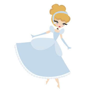 Cinderella Art Print by Paint Me Pink