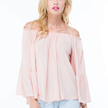 Flowy Showy Off-Shoulder Blouse