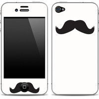 Mustache 1 iPhone 4/4s Skin FREE SHIPPING
