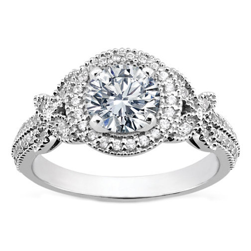 engagement ring vintage style from mdc diamonds