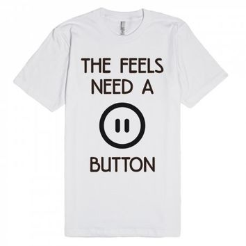 Pause The Feels-Unisex White T-Shirt