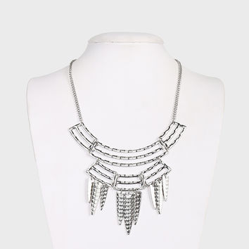 Cutting It Out Tribal Necklace