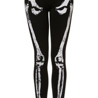 Skeleton Embellished Leggings - Pants & Leggings  - Apparel