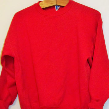 Vintage Plain Red Sweatshirt