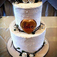 Rustic wedding cake topper wooden heart country weddings