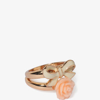 Bow & Rosette Ring Set